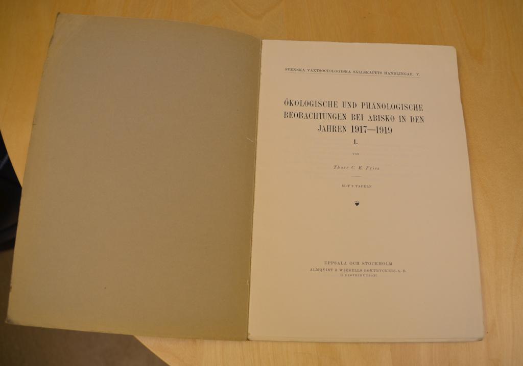 Veröffentlichung von Thore C. Fries.