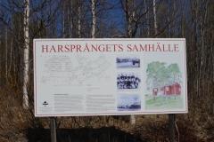 Nur noch ein Schild ist geblieben von der Siedlung der Arbeiter, die Damm und Kraftwerk Harsprånget bauten.