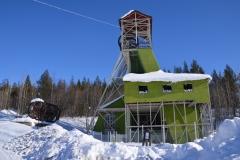 Früherer Aufzug des Bergwerks, jetzt Denkmal.