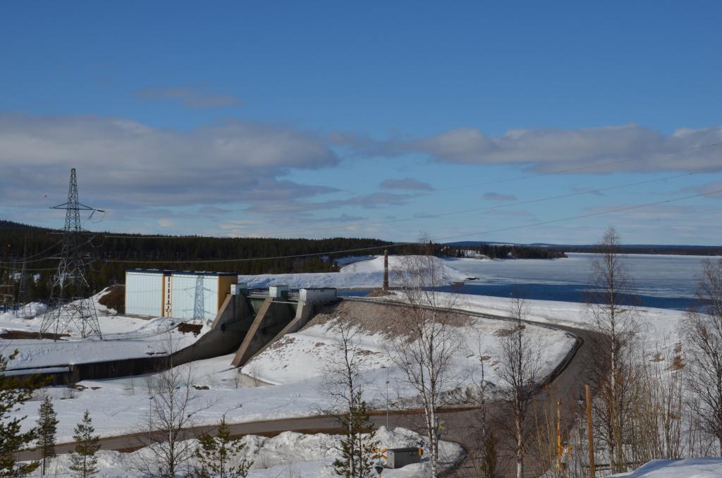 Porjus - der erste Staudamm.