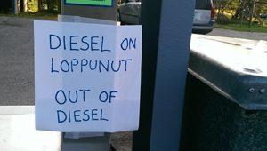 Diesel ist aus.