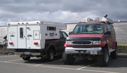 Fahrzeuge auf Island.
