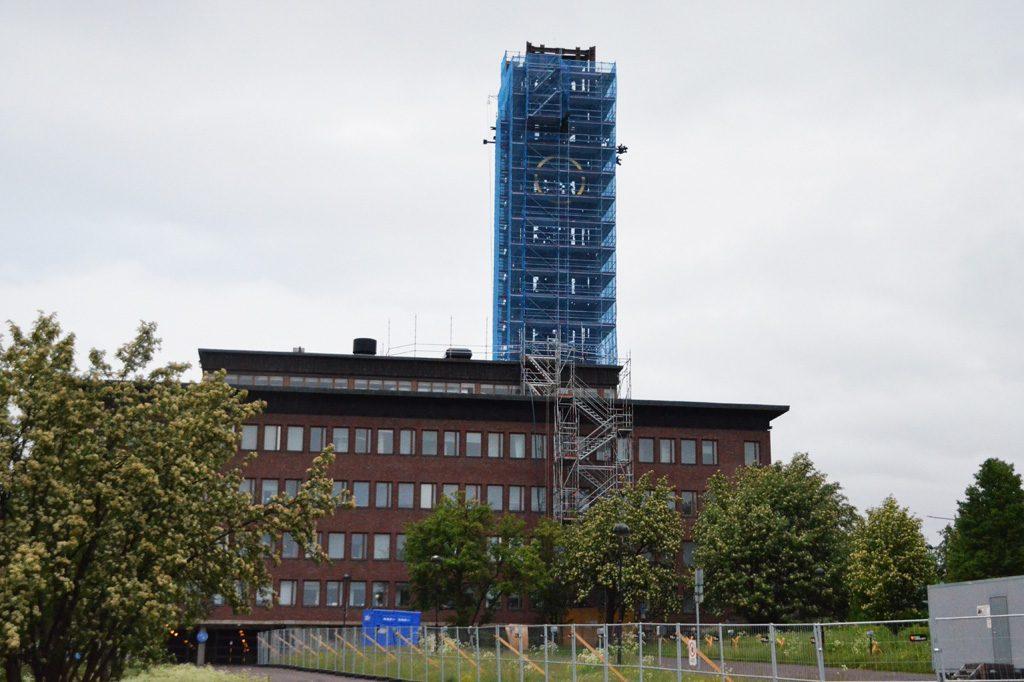 Turm bereit zum Abbau Juli 2017
