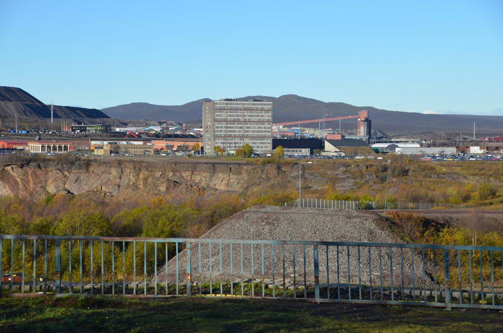 Einfahrt Gruvvägen 2015, ohne Brücke