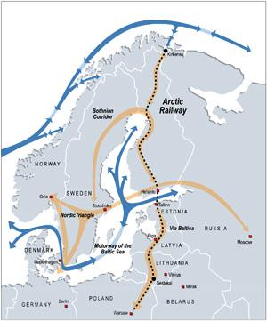 Verkehrsverbindungen im Norden.