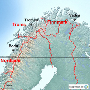 Norwegen Fylke