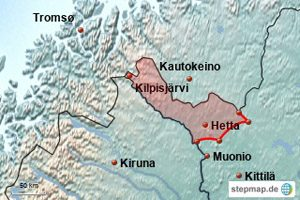 Karte Enontekiö