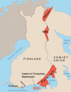 Finnland Gebiete