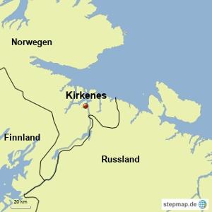 Karte Kirkenes
