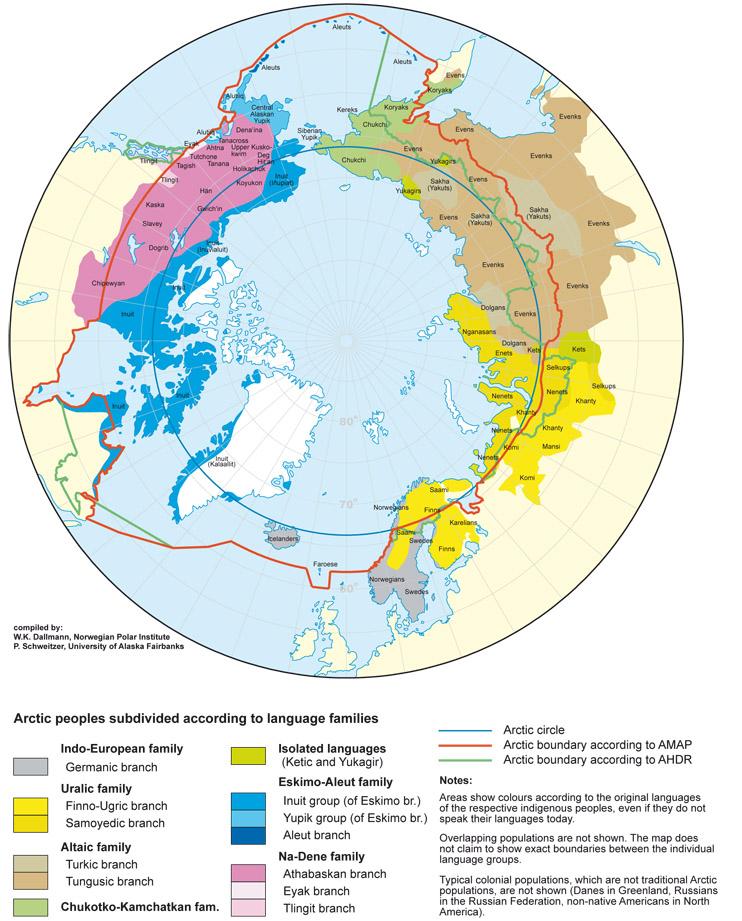 polarkreis karte Sprachen am Polarkreis   polarkreisportal.de polarkreis karte