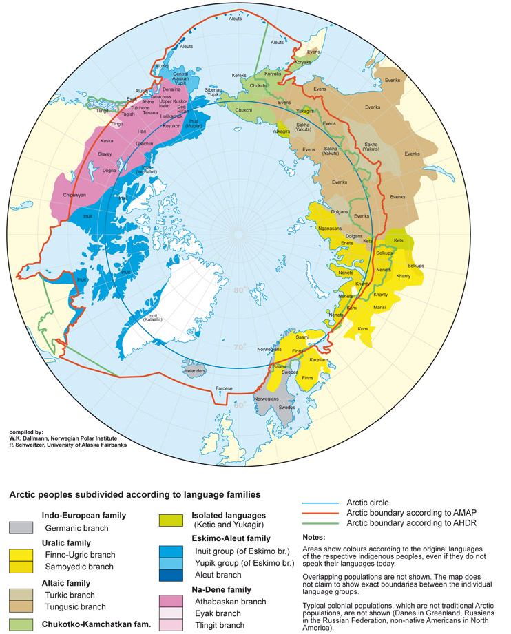 polarkreis karte Sprachen am Polarkreis   polarkreisportal.de