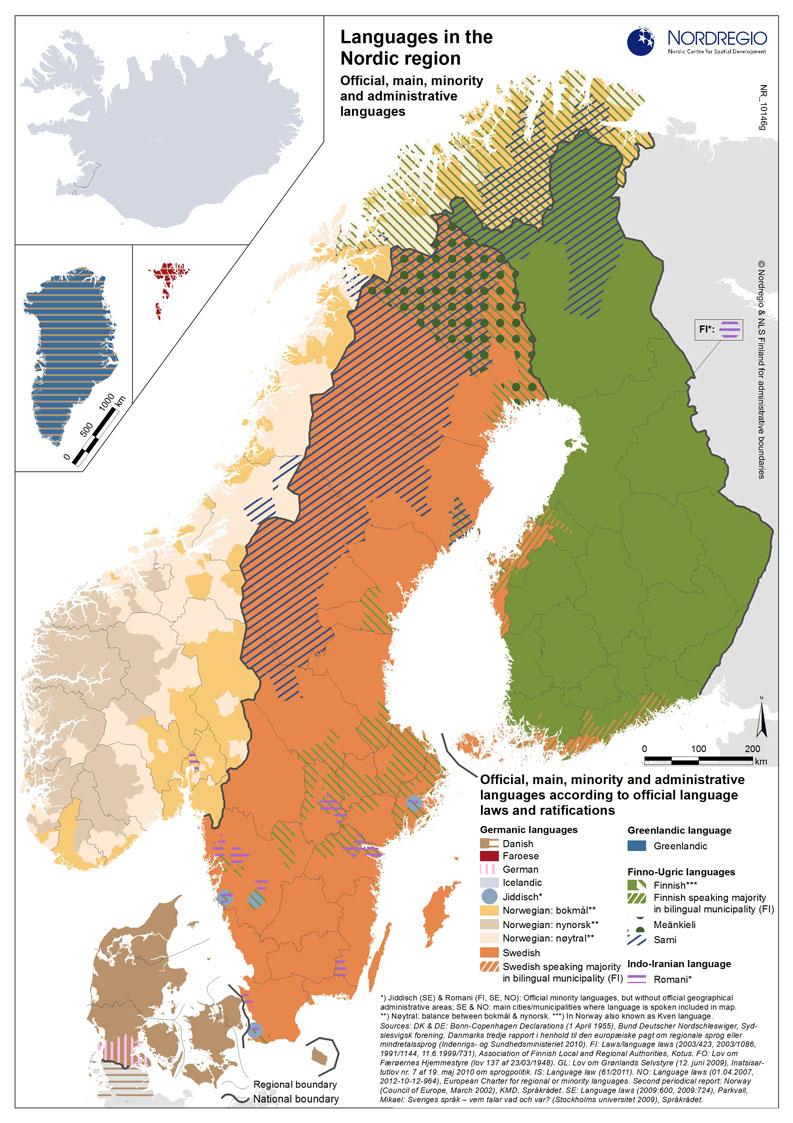 Karte Norwegen Mit Polarkreis.Sprachen Im Europäischen Norden Polarkreisportal De