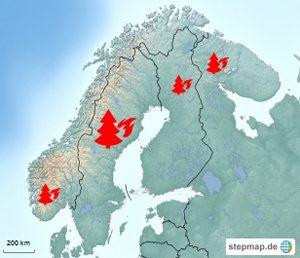 schweden waldbrände karte Viel internationale Hilfe für Waldbrand Schweden