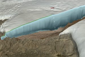 Gletscher Eisradar