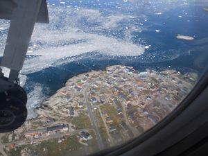 Sicht auf Grönland