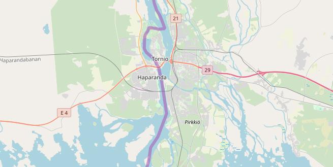 Karte Haparanda Tornio