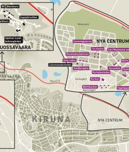 Karte neues Kiruna