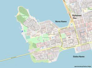 Luleå Zentrum Karte