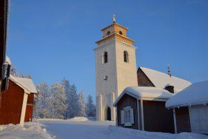 Gammelstad Kyrkbyn im Winter