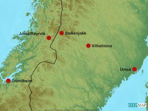 Karte Stekenjokk