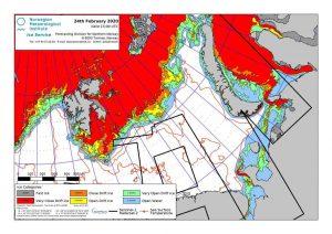 Eiskarte Barentssee