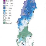 Schneekarte Schweden Februar 2020