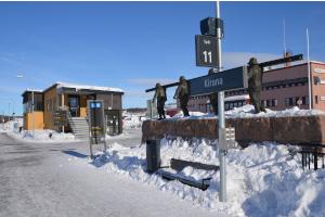 Kiruna Bahnhof Winter