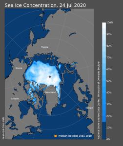 Meereis Arktis Juli 2020