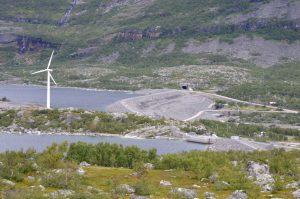 Suorva-Damm von oben