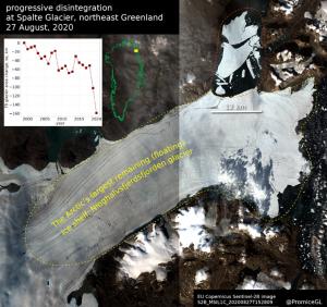Spalte Gletscher