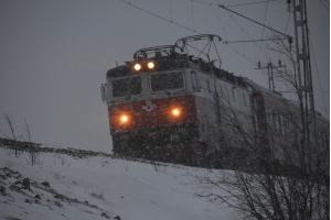 SJ im Schneesturm