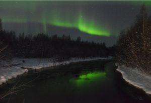 Nordlicht Oktoberschnee