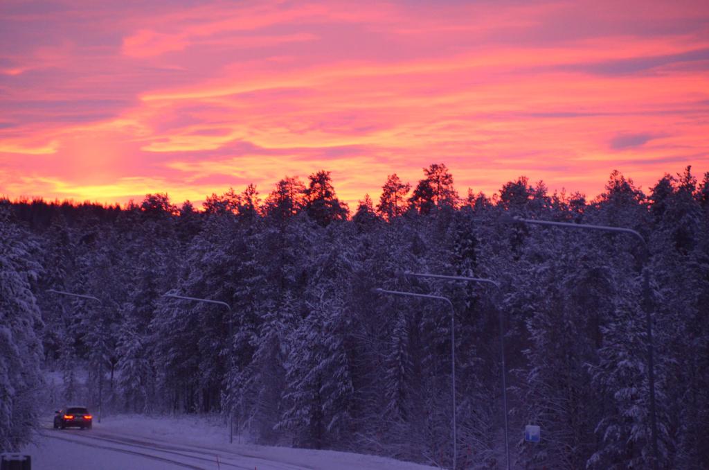 Jokkmokk Sonnenuntergang