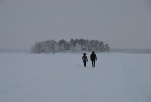 Spaziergänger Gråsjälören