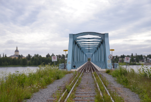 Eisenbahnbrücke Torneälv