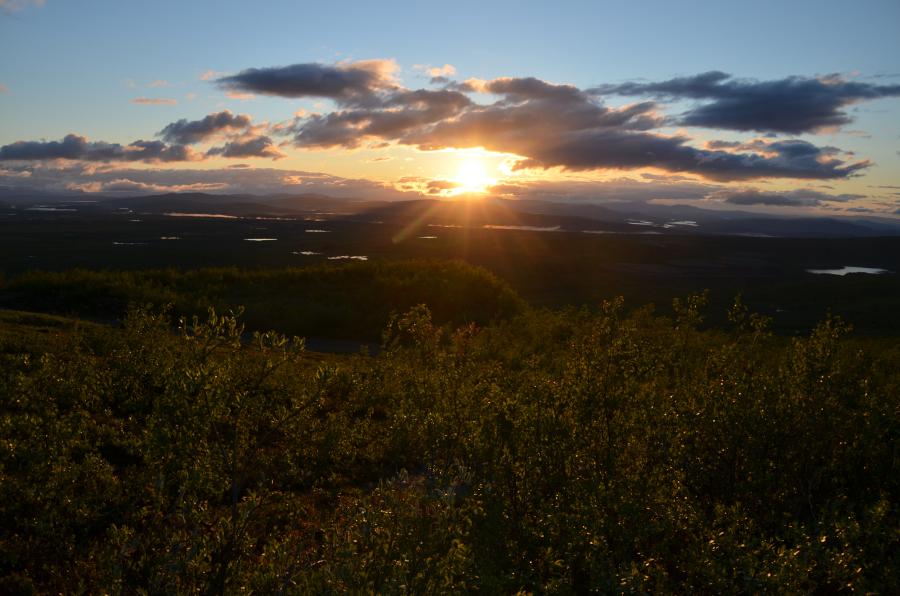 Mitternachtssonne in Kiruna